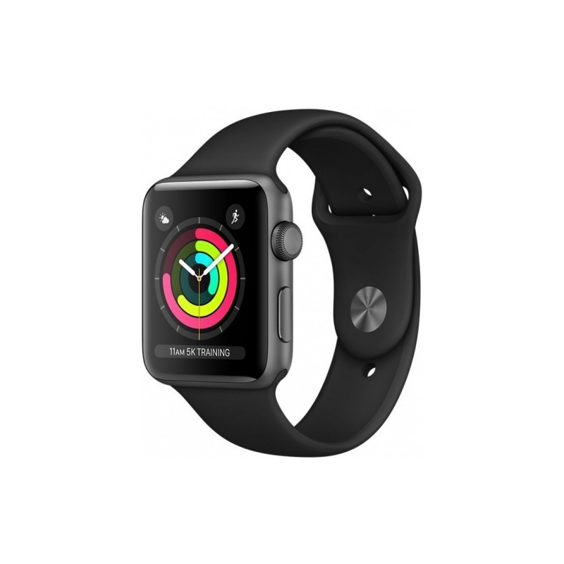 APPLE WATCH SERIES 3 38MM SPACE GRAY ALUMINIUM SPORT BAND