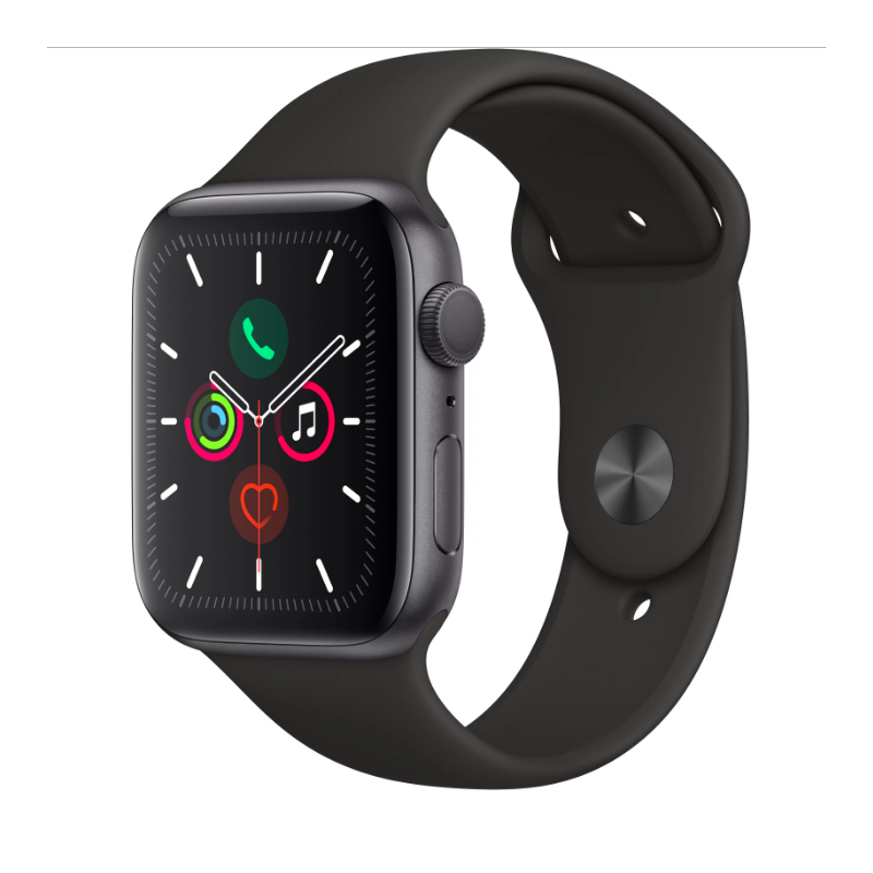 СМАРТ-ЧАСЫ APPLE WATCH SERIES 5 44MM SPACE GREY SPORT BAND
